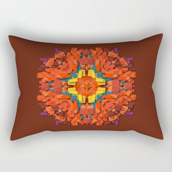 red round accumulation Rectangular Pillow