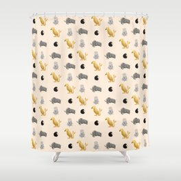 Those beasts are just fantastic. Shower Curtain