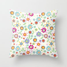 fresh flowers Throw Pillow