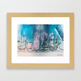 The Artist's Shelf Framed Art Print