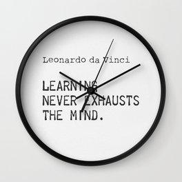 Leonardo da Vinci quote 5 Wall Clock