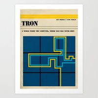 tron Art Prints featuring Tron by Tommaso Valsecchi