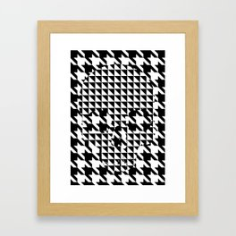 houndstooth skull #1 Framed Art Print