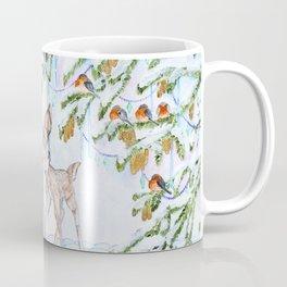 Cute Watercolor Deer Coffee Mug