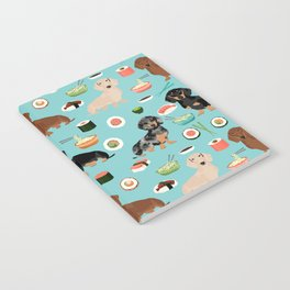 dachshund sushi multi coat doxie dog breed cute pattern gifts Notebook