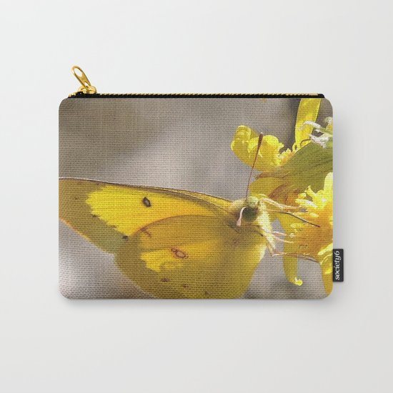 Sulphur Butterfly Imbibing Carry-All Pouch