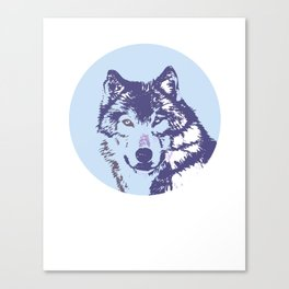Loyal Wolf Totem Portrait  Canvas Print