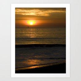 Sunset, Sail, Surf Art Print