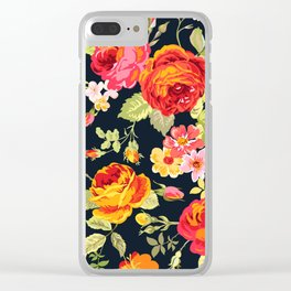 Amber Garden Florals Clear iPhone Case