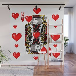 KING OF HEARTS CASINO FACE CARD ART Wall Mural