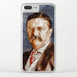 Theodore Roosevelt, President Clear iPhone Case