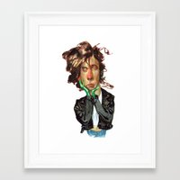 tim burton Framed Art Prints featuring Tim Burton by RSAR