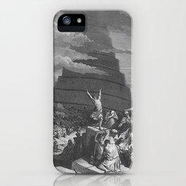 Gustave Dore - Bible Tour de Babel iPhone Case