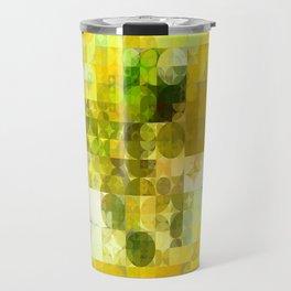 Pale Yellow Poinsettia 1 Abstract Circles 2 Travel Mug