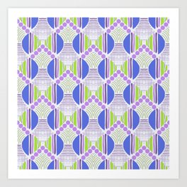 Spring vibes dots and lines variations Art Print