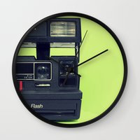polaroid Wall Clocks featuring Polaroid by Brieana