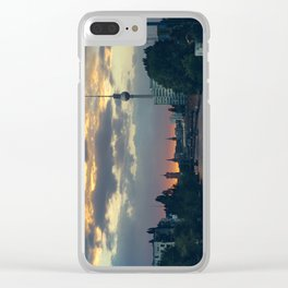 Berlin Red Clear iPhone Case
