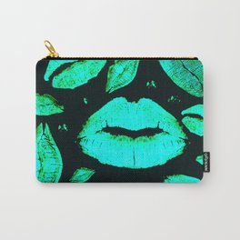 Kisses All Over (Green) Carry-All Pouch