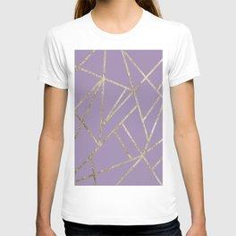 Classic Lavender Gold Geo #1 #geometric #decor #art #society6 T-shirt