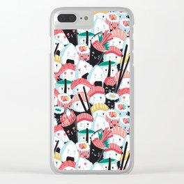 Kawaii Sushi Crowd Clear iPhone Case
