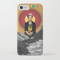 frida iPhone & iPod Cases featuring FRIDA by Estera Lazowska