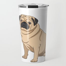 Pug Bark Travel Mug