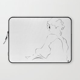 graphic sketch of a woman Laptop Sleeve