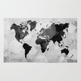 World map - desaturated Rug