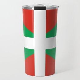 Flag of Euskal Herria-Basque,Pays basque,Vasconia,pais vasco,Bayonne,Dax,Navarre,Bilbao,Pelote,spain Travel Mug