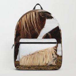 Iceland horses Backpack