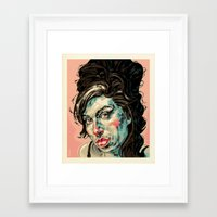 amy hamilton Framed Art Prints featuring Amy by Mark Bender