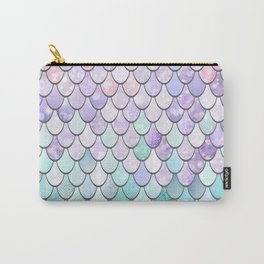 Mermaid Pastel Pink Purple Aqua Teal Carry-All Pouch