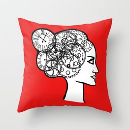 red l'heure espagnole Throw Pillow