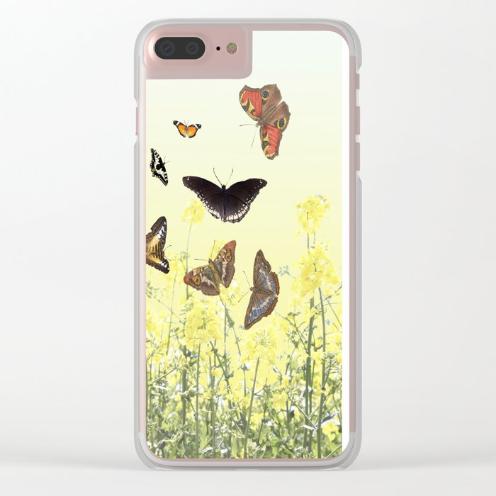 Fields of gold Clear iPhone Case