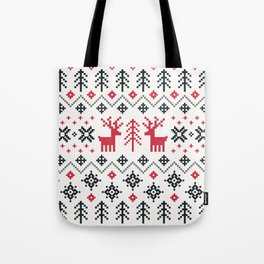HOLIDAY SWEATER PATTERN Tote Bag