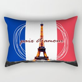 Peace and Love in France Rectangular Pillow