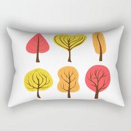 Autumn trees Rectangular Pillow