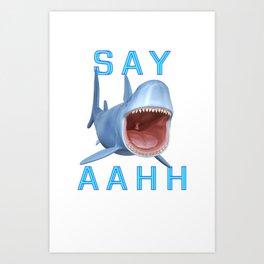 Sharks Tale ..  Art Print