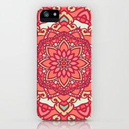 Crimson mandala iPhone Case