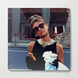 Audrey Hepburn #3 @ Breakfast at Tiffany's Metal Print
