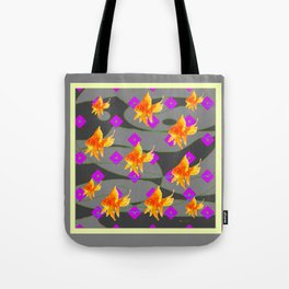 Decorative Gold Fish Modern Grey  Abstract Tote Bag