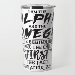 Revelation 22:13 Travel Mug
