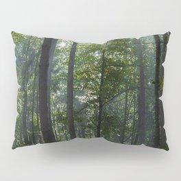Green forest shrouded the sun. Pillow Sham