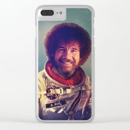Happy Little Astronaut Clear iPhone Case