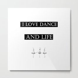 i love... black2 ( https://society6.com/vickonskey/collection ) Metal Print