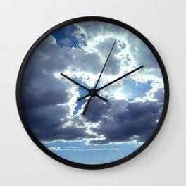 Clouds & Sun Wall Clock