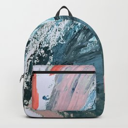 Wilmington: a colorful abstract acrylic piece in pinks and blues Backpack