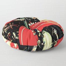 Motorcycle-Red Floor Pillow