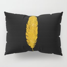 Golden Feather Rule Pillow Sham