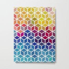 Geometric and colorful landscape Metal Print
